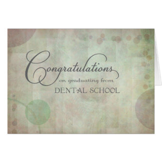 Dental School Congratulations Card