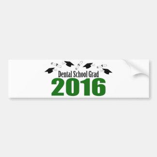 Dental School Grad 2016 Caps And Diplomas (Green) Bumper Sticker