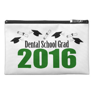 Dental School Grad 2016 Caps And Diplomas (Green) Travel Accessories Bag