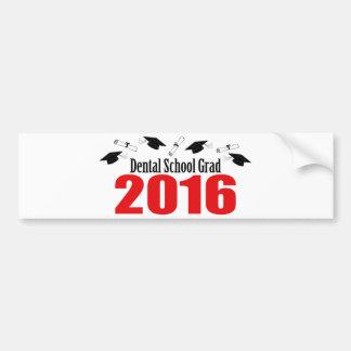 Dental School Grad 2016 Caps And Diplomas (Red) Bumper Sticker