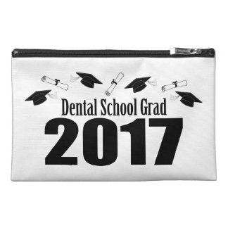 Dental School Grad 2017 Caps And Diplomas (Black) Travel Accessory Bags