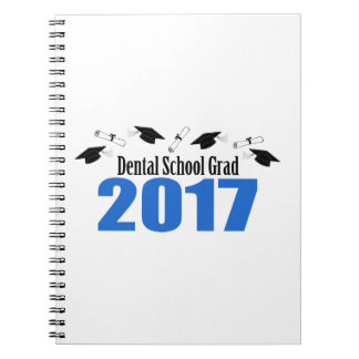 Dental School Grad 2017 Caps And Diplomas (Blue) Notebook