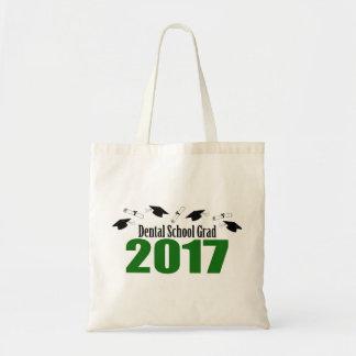 Dental School Grad 2017 Caps And Diplomas (Green) Tote Bag