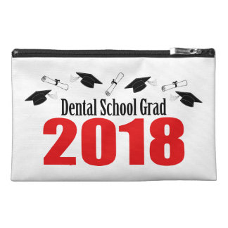 Dental School Grad 2018 Caps And Diplomas (Red) Travel Accessory Bag