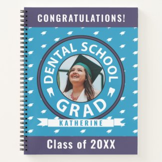 Dental School Graduation with Photo Name Class Yea Notebook