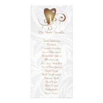 Dental Service Menu Brochure Gold Diamond Tooth