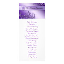 Dental Service Menu Purple Tooth Leaves Glitter