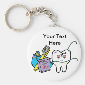 Dental Stuff for Dentist Day March 6th Basic Round Button Keychain