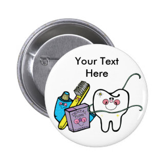 Dental Stuff for Dentist Day March 6th 2 Inch Round Button