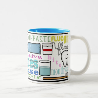 Dental Terms Subway Art Mug