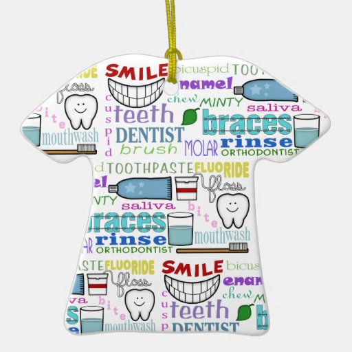 Dental Terms Subway Art Ornament