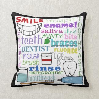 Dental Terms Subway Art Pillow