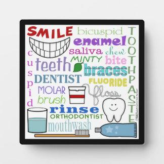 Dental Terms Subway Art Plaque