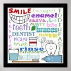 Dental Terms Subway Art Poster