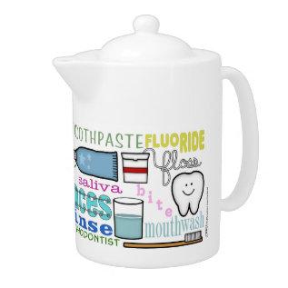 Dental Terms Subway Art Teapot at Zazzle