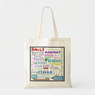 Dental Terms Subway Art Tote Bag