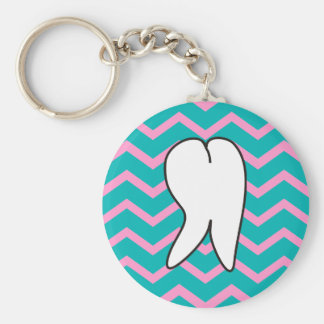 Dental Tooth and Chevron Design Keychain