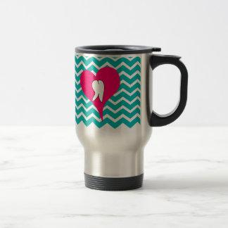 Dental Tooth and Chevron Design Coffee Mug