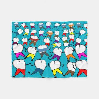 Dental Tooth Art Fleece Blanket