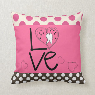 Dental Tooth Art Pillow Polka Dots