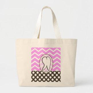 Dental Tooth Chevron Design II Canvas Bags