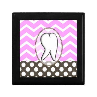 Dental Tooth Chevron Design II Keepsake Box