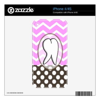 Dental Tooth Chevron Design II Skin For The iPhone 4