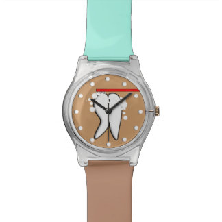 Dental Tooth Watch Blue and Brown