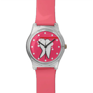 Dental Tooth Watch Pink