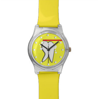 Dental Tooth Watch Yellow