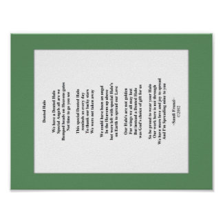 Dented Halo Poem 8.5 X 11 Poster Paper (Matte)