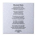 Dented Halo Poem Brain Surgery Survivor Tile