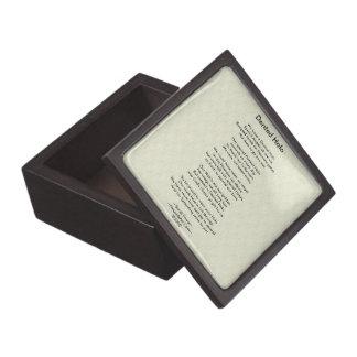 Dented Halo Poem Jewelry Box