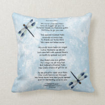Dented Halo Poem Pillow