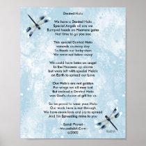 Dented Halo Poem Poster