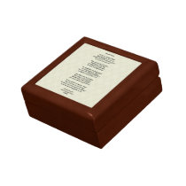Dented Halo Poem Trinket Box