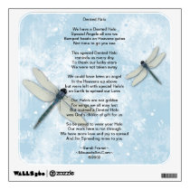 Dented Halo Poem Wall Decal