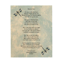Dented Halo Poem Wood Canvas