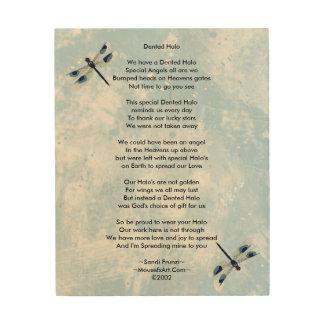 Dented Halo Poem Wood Canvas