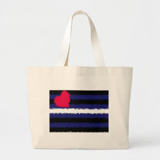 Dented Leather Pride Flag Large Tote Bag
