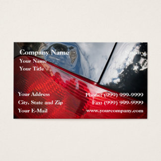 Dented tailgate business card