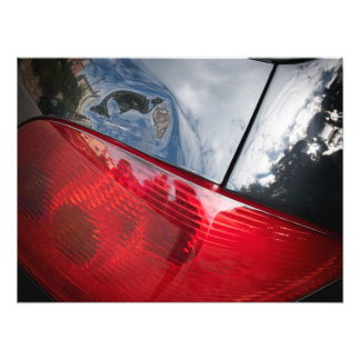 Dented tailgate photographic print