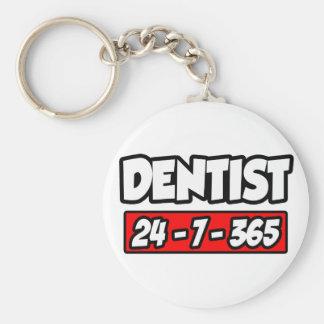 Dentist 24-7-365 keychain