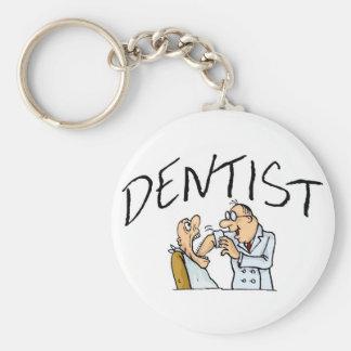 Dentist 2 basic round button keychain