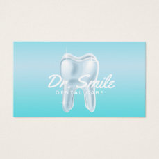 Dentist 3D Tooth Dental Care Appointment Business Card
