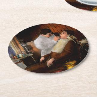 Dentist - An incisive decision - 1917 Round Paper Coaster