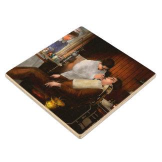 Dentist - An incisive decision - 1917 Wood Coaster