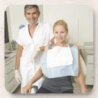 Dentist and patient, Portrait Coaster