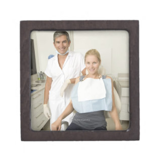 Dentist and patient, Portrait Jewelry Box