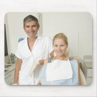 Dentist and patient, Portrait Mouse Pad